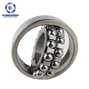 SUNBEARING Самоустанавливающийся шарикоподшипник 1205 Серебро 25 * 52 * 15 мм Хромированная сталь GCR15
