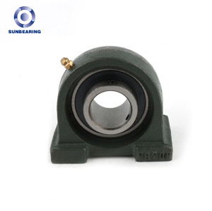 SUNBEARING Cojinete de bloque de almohada UCPA203 Verde oscuro 17 * 30.2 * 76 mm Acero al cromo GCR15