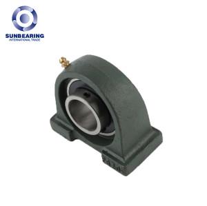 SUNBEARING Опорный подшипник скольжения UCPA203 темно-зеленый 17 * 30,2 * 76 мм хромированная сталь GCR15