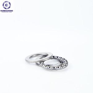 SUNBEARING Упорный шарикоподшипник 51103 Серебро 17 * 30 * 9 мм Хромированная сталь GCR15