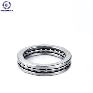 SUNBEARING Упорный шарикоподшипник 51308 Серебристо-серый 40 * 78 * 26 мм Chome Steel GCR15