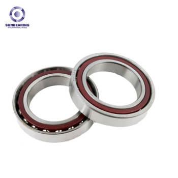 SUNBEARING Angular Contact Ball Bearing 7202C Silver 15*35*11mm Chrome Steel GCR15