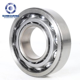 SUNBEARING 7203C Angular Contact Ball Bearing Silver 17*40*12mm Chrome Steel GCR15