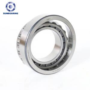 SUNBEARING Rodamiento de rodillos cónicos 32017 Plata 80 * 150 * 30.5 mm Acero al cromo GCR15