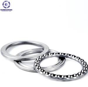SUNBEARING 51111 Thrust Ball Bearing Silver 55*78*16mm Chrome Steel GCR15