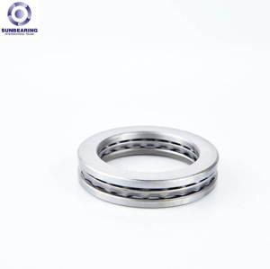 SUNBEARING 51120 Thrust Ball Bearing Silver 100*135*25mm Chrome Steel GCR15