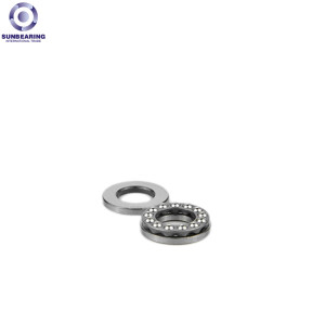 SUNBEARING 51201 Thrust Ball Bearing Silver 12*28*11mm Chrome Steel GCR15