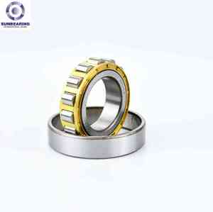 SUNBEARING Цилиндрический роликоподшипник NU204 Серебро 20 * 47 * 14 мм Хромированная сталь GCR15
