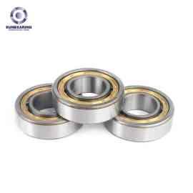 SUNBEARING Rodamiento de rodillos cilíndricos NU205E Plata 25 * 52 * 15 mm Acero al cromo GCR15