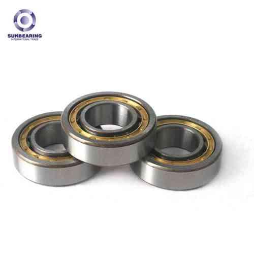 SUNBEARING أسطواني أسطواني NU205E فضية 25 * 52 * 15mm كروم فولاذ GCR15