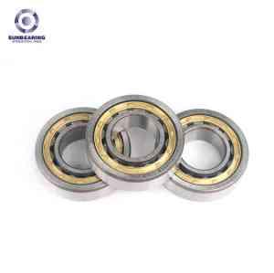 SUNBEARING Цилиндрический роликовый подшипник NU205E Серебро 25 * 52 * 15 мм Хромированная сталь GCR15