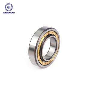 SUNBEARING أسطواني أسطواني NU206EM الفضة 30 * 62 * 16MM الكروم الصلب GCR15