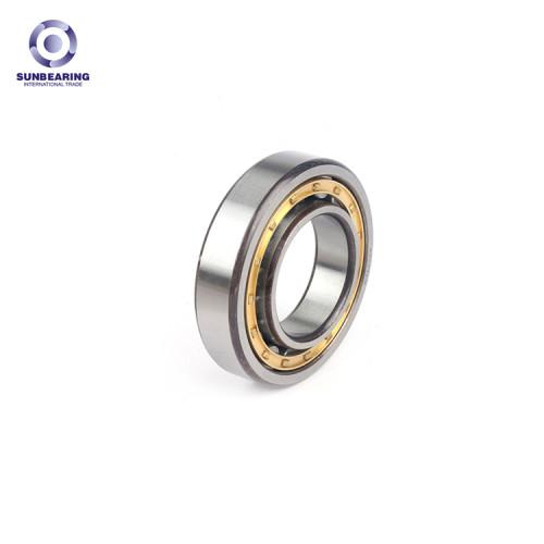 SUNBEARING Rodamiento de rodillos cilíndricos NU206EM Plata 30 * 62 * 16 mm Acero al cromo GCR15