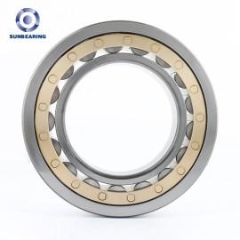 Sunbearing أسطواني أسطواني NU208ECP الفضة 90 * 160 * 30mm كروم فولاذ GCR15