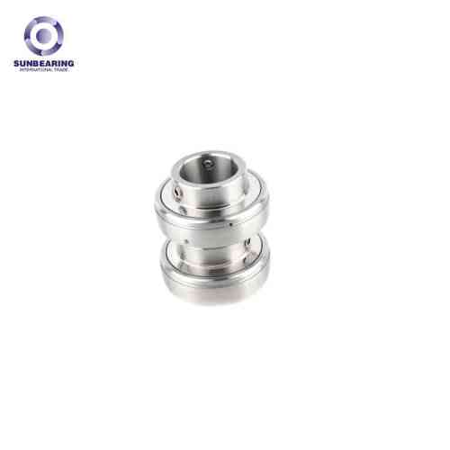 SUNBEARING وسادة كتلة ، وإذ تضع UC201 الفضة 12 * 47 * 31MM GCR15 الفولاذ المقاوم للصدأ