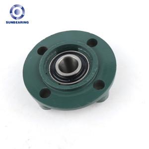 SUNBEARING Опорный подшипник скольжения UCFC208 Зеленый 40 * 145 * 49,2 мм Хромированная сталь GCR15