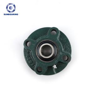 SUNBEARING Cojinete de bloque de almohada UCFC212 Verde 60 * 195 * 65.1 mm Acero al cromo GCR15