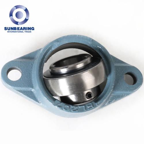 SUNBEARING Cojinete de bloque de almohada UCFL203 Azul 17 * 113 * 31 mm Acero al cromo GCR15