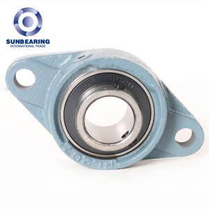 SUNBEARING Cojinete de bloque de almohada UCFL209 Azul claro 45 * 188 * 108 mm Acero al cromo GCR15