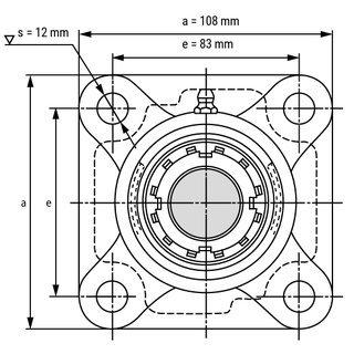 UkF206 bearing drawing