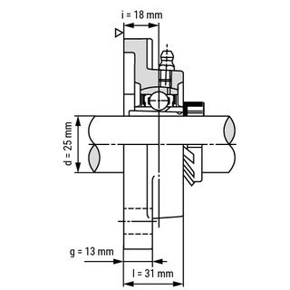 UKF206 pillow block bearing drawing