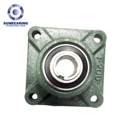 UKF206 Four-Bolt Flanged Housed Units with Adapter Sleeve 25mm SUNBEARING