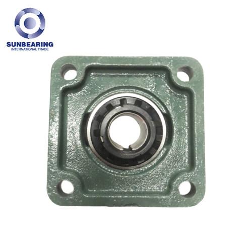 SUNBEARING UKF206 Cojinete de bloque de almohada 25mm Acero cromado GCR15 Verde