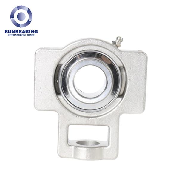 SUNBEARING وسادة كتلة تحمل SUCT205 الفضة 25 * 97 * 89mm GCR15 الفولاذ المقاوم للصدأ