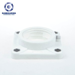 F207 4 Bolts Flange Bearing 42.9*119*35mm Plastic and Stainless Steel GCR15 SUNBEARING