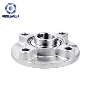 SUNBEARING UCFC213 illow Block Bearing Silver 65*205*65.1mm Stainless Steel GCR15