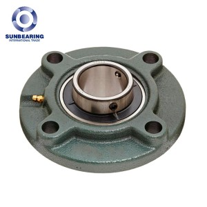 UCFC211 Circle Flanged Bearing 55*185*55.6mm Cast Iron SUNBEARING