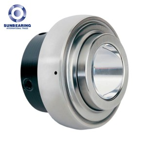 SUNBEARING UC214 Pillow Block Bearing Silver 70*125*74.6mm Chrome Steel GCR15