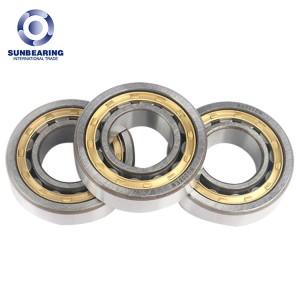 SUNBEARING NU205E Cylindrical Roller Bearing Silver 25*52*15mm Chrome Steel GCR15