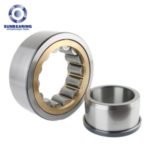 SUNBEARING NJ2313ECP Cylindrical Roller Bearing Silver 65*140*48mm Chrome Steel GCR15