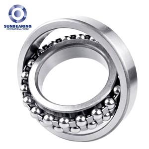 SUNBEARING 1212 Self Aligning Ball Bearing Silver 60*110*22mm Chrome Steel GCR15