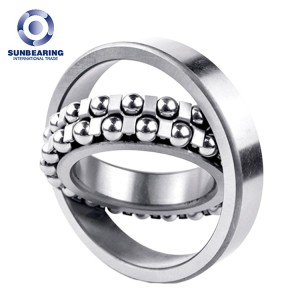 SUNBEARING 1307 Silver 35*80*21mm Chrome Steel GCR15 Self Aligning Ball Bearing