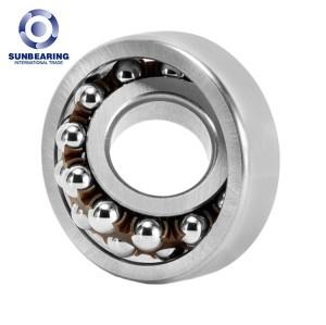 SUNBEARING 1304 Silver 20*52*15mm Chrome Steel GCR15 Self Aligning Ball Bearing
