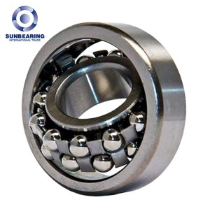 SUNBEARING 2210 Silver 50*90*23mm Chrome Steel GCR15 Self Aligning Ball Bearing