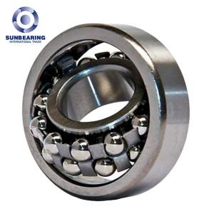 SUNBEARING 2208 Silver 40*80*23mm Chrome Steel GCR15 Self Aligning Ball Bearing