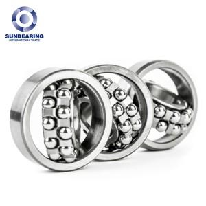 SUNBEARING 2203 Silver 17*40*16mm Chrome Steel GCR15 Self Aligning Ball Bearing