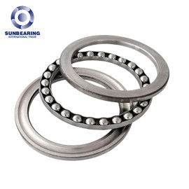 SUNBEARING 51207 Thrust Ball Bearing Silver 35*62*18mm Chrome Steel GCR15