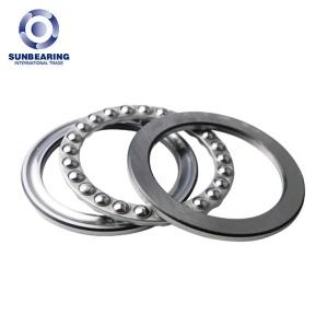 SUNBEARING 51205 Thrust Ball Bearing Silver 25*47*15mm Chrome Steel GCR15