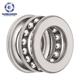 SUNBEARING 51204 Thrust Ball Bearing Silver 20*40*14mm Chrome Steel GCR15