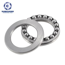 SUNBEARING 51109 Thrust Ball Bering Silver 45*65*14mm Chrome Steel GCR15