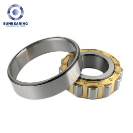 SUNBEARING Cylindrical Roller Bearing N320M Yellow and Silver 100*215*47mm Chrome Steel GCR15