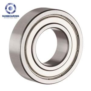 SUNBEARING Deep Groove Ball Bearing 6219 Silver 95*170*32mm Chrome Steel GCR15