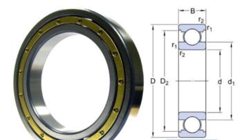 6044M deep groove ball bearing drawing