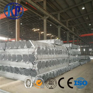China factory direct sale zinc coated Galvanized Round Steel Pipe with size 16mm-80mm by the hot dipped process