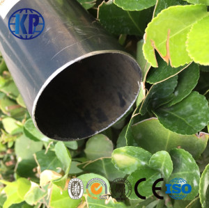 High Quality ERW Round Welded Black Thin Wall Steel Tube