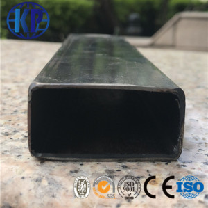 The mill supply ERW welded black mild rectangular steel pipe